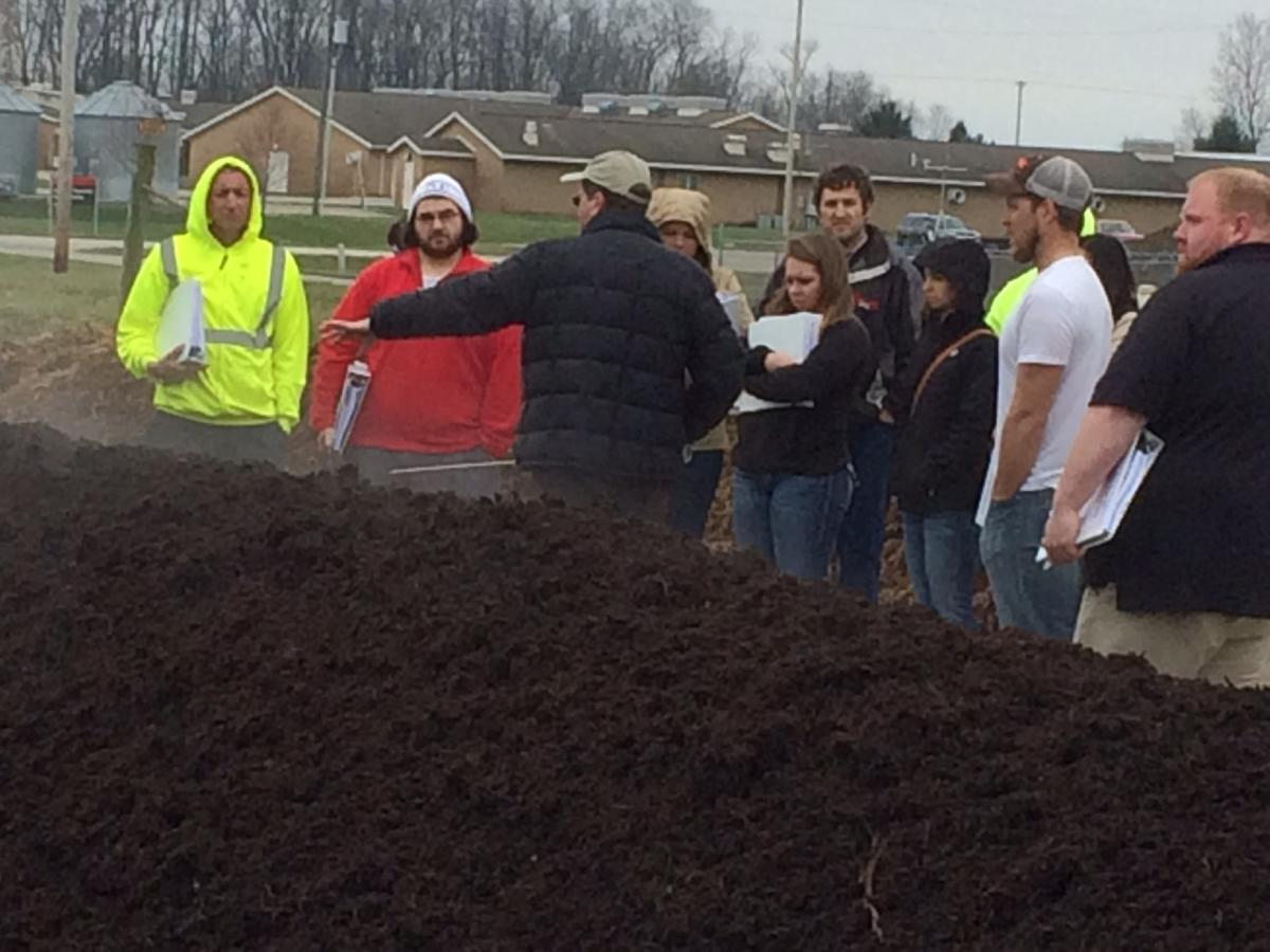 Learning the ins and outs of composting at OARDC in Wooster, Ohio.