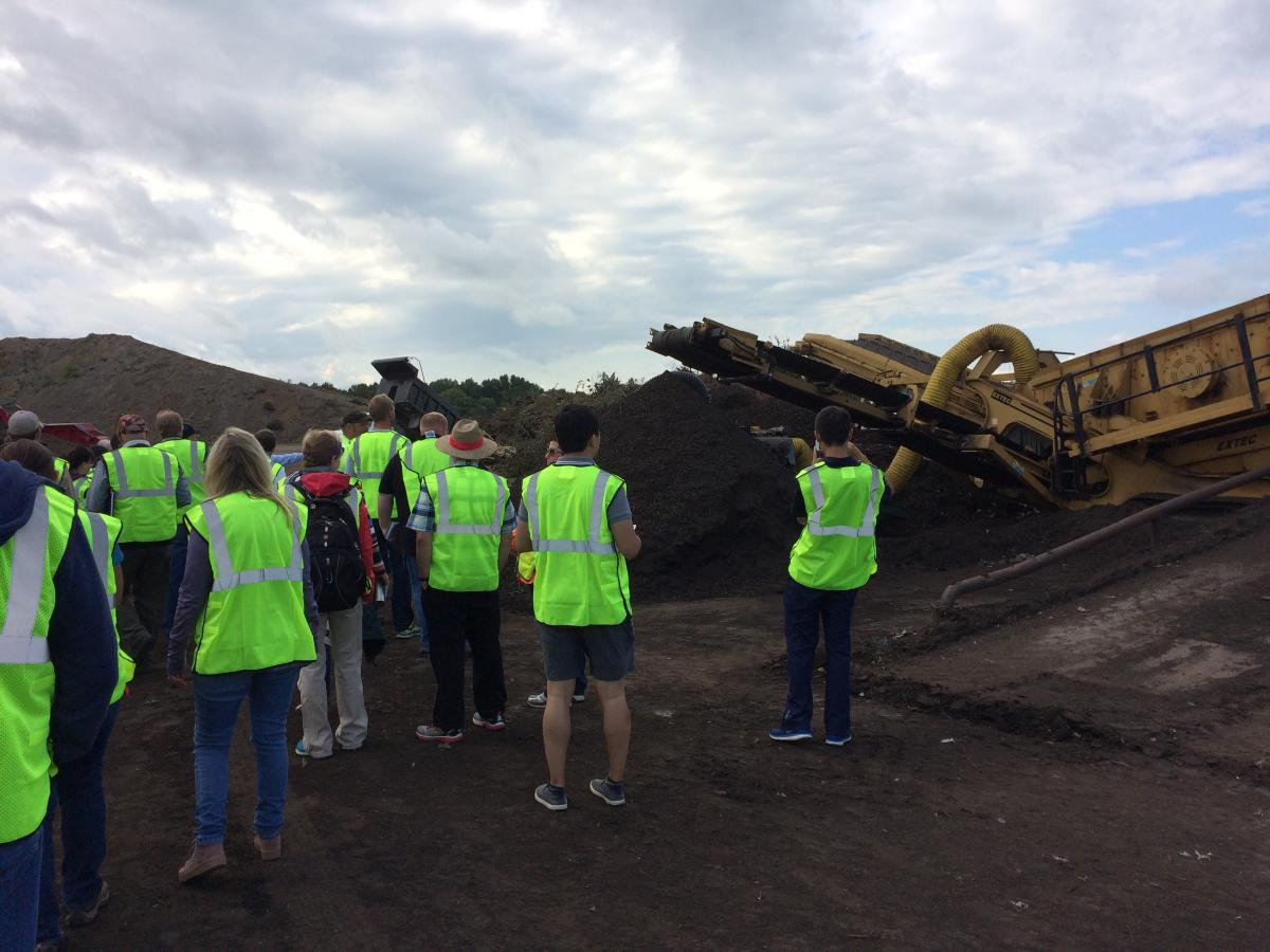 Checking out compost on 2017 tour.