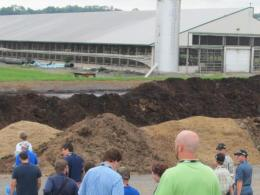 Composting manure at a Pennsyvania dairy farm in 2015.