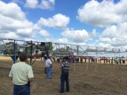 Liquid manure boom applicator