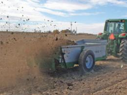 Applying solid manure to cropland